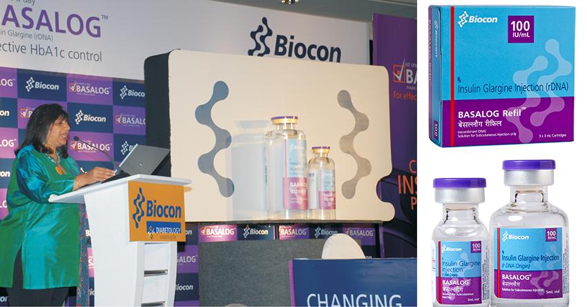 Kiran Mazumdar-Shaw at the launch of Basalog® (Insulin Glargine) in India
