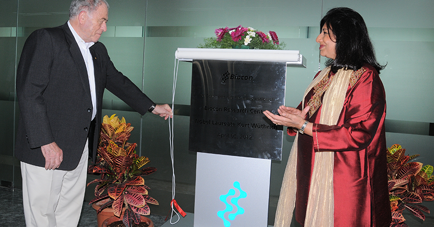 Noble Laureate Prof Kurt Wuthrich inaugurates the Biocon Research Centre