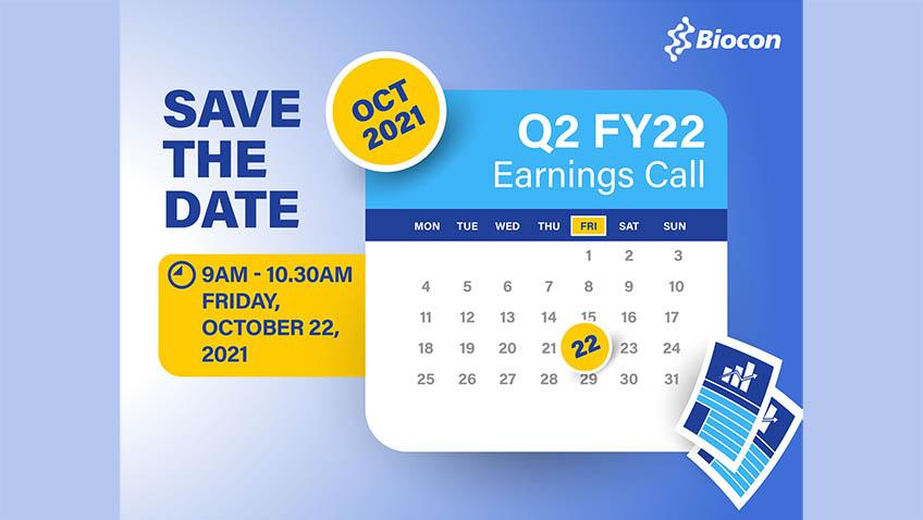Biocon's Q2 FY22 Earnings Call